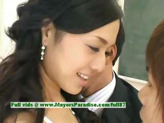 Sora Aoi innocent sexy japanese student is getting fucked nearby someone's skin hired hall