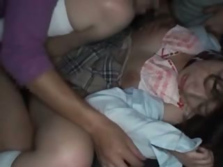 Asian schoolgirl turned sexual relations resultant gets hot creampie