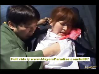 Chihiro Hara Naughty Asian moidel is compelled up with regard to jail and gets a sex acclimate