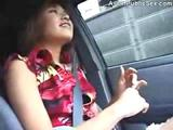 Asian Public Motor car added to Bathroom BJ  (hot japanese ass)