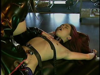 Asian servant teased around BDSM pretence
