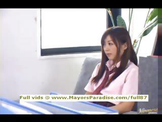 Miyu Hoshino na�ve Chinese schoolgirl being licked