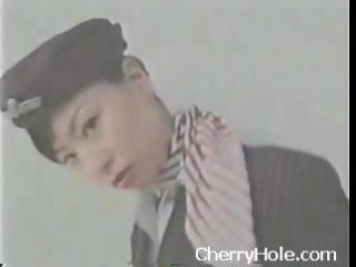 Asian Stewardess Creampie  -  CherryHole.com