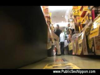 Public asian japanese bj at the cd store