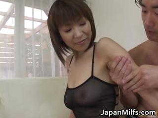 Ripsnorting ass floozy Jun Kusanagi in gangbang part1
