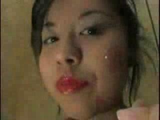 Asian girl Hyperbolic sports jargon pulverize window