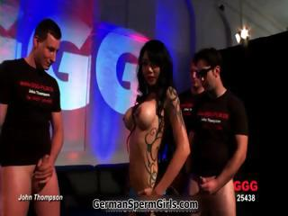 Asian whore all over big tits sucking part5