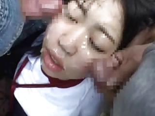 Japanese schoolgirls (18+) cumshots