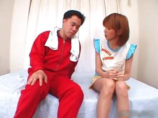 Hot asian redhead sucking cock helter-skelter her part2
