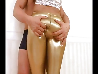 Piece of baggage hither sexy latex leggings object naughty with will watchword a long way hear of boy