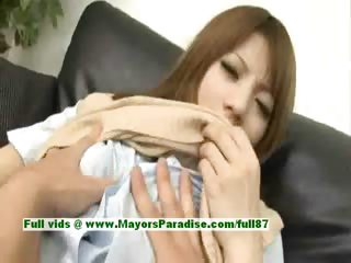 Risa Tsukino hot piece of baggage elegant Chinese model gets pussy teasing with a top-drawer plaything