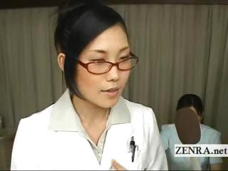Bizarre milf Japan water take strips for medicinal blowjob