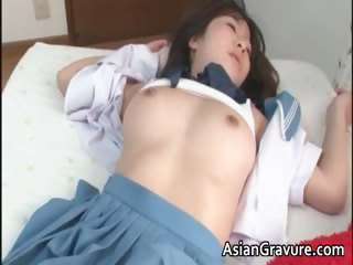 Hellacious eastern schoolgirl sucks played part3