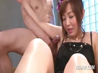 Asian elegant spoil sucking and feet shafting cocks