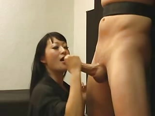 Asian wintry handjob 1