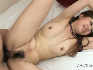 Hairy Pussy Japanese Is Tied Close by And Punished