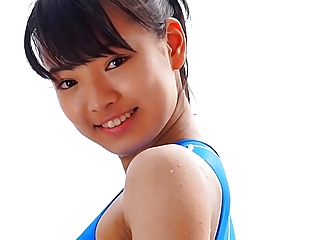 Asian Teen Blue Swimsuit Unconstrained non - barren