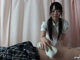 Japanese nurse gets melancholy with a horny part6