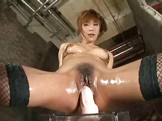 Hot Asian Girl Riding Fat Dildo